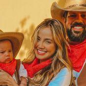 Filho de Biah Rodrigues e Sorocaba completa 4 meses e ganha festa: 'Cowboy'