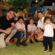 Wesley Safadão reúne os três filhos para o aniversário de 2 anos do caçula