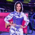 Bianca Andrade combinou conjunto de moletom com corpete lilás para ir ao Prêmio Jovem Brasileiro, em São Paulo, na noite desta terça-feira, 22 de setembro de 2020
