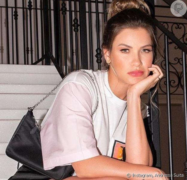 Mulher de Gusttavo Lima, Andressa Suita aposta em look Prada. Confira!