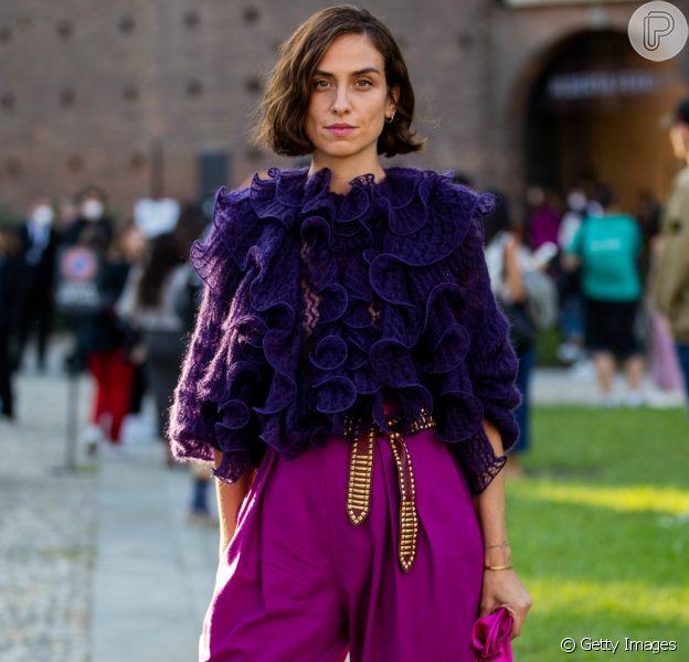 Na Semana de Moda de Milão, o babado apareceu com força nas peças