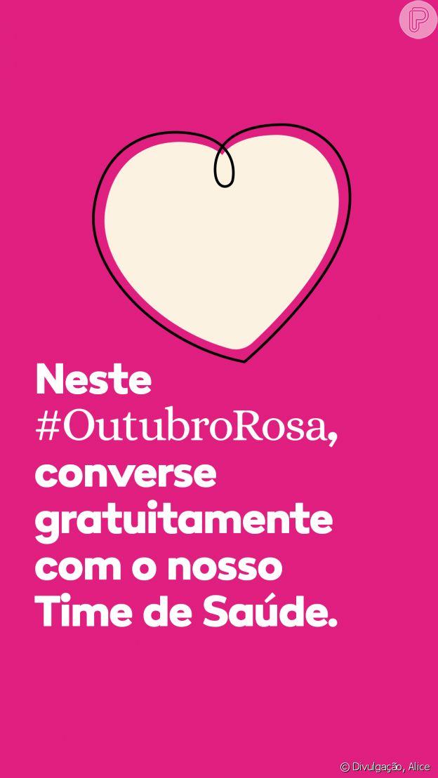 Aplicativo Alice incentiva Outubro Rosa com conscientização