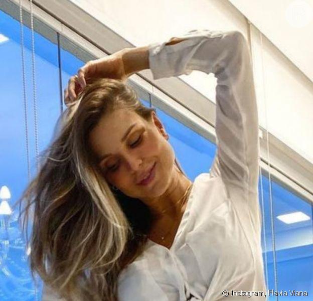 Flavia Viana retomou treinos um mês após nascimento do filho, Gabriel