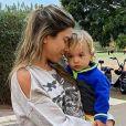 Patricia Abravanel é mãe de Senor, de 1 ano, que já foi comparado ao avô por conta do estilo e à mãe pelo olhar