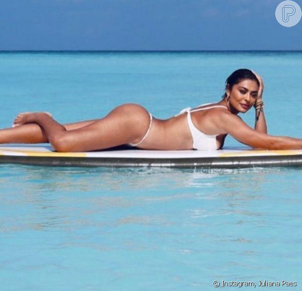 Moda praia de Juliana Paes: atriz esbanja beleza ao posar de biquíni