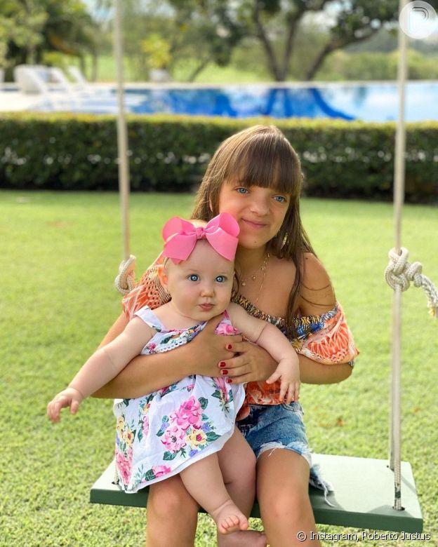Roberto Justus posta foto da filha Rafaella Justus com irmã Vicky e encanta web