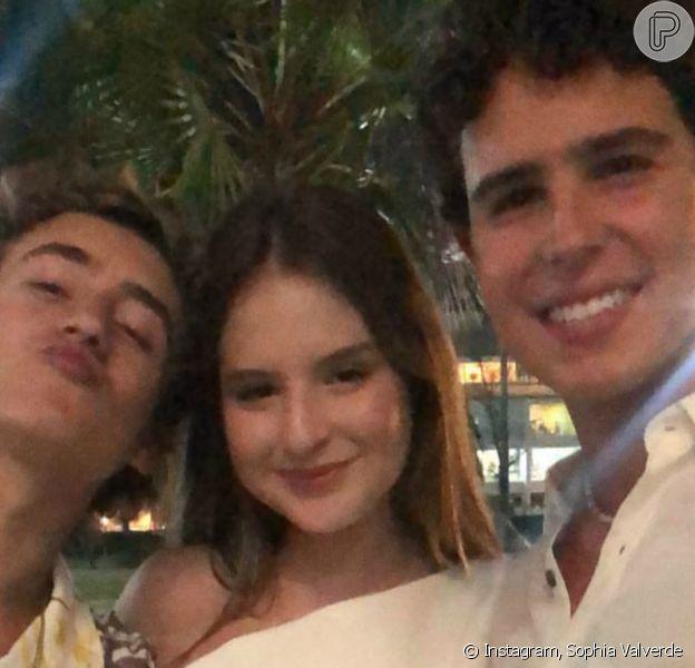 Sophia Valverde, Enzo Krieger e Igor Jansen celebraram juntos a chegada de 2021 no Ceará