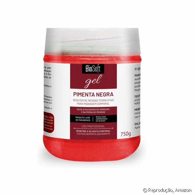 O gel Pimenta Negra da Soft Hair é poderoso para reduzir medidas