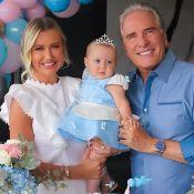 Filha de Ana Paula Siebert e Roberto Justus ganha festa de princesa aos 8 meses. Veja!