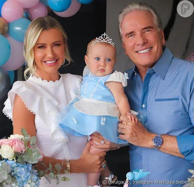 Filha de Roberto Justus e Ana Paula Siebert, Vicky completou 8 meses de vida neste domingo, 17 de janeiro de 2021