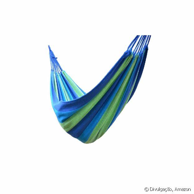 Rede de algodão verde e azul, da Cabilock