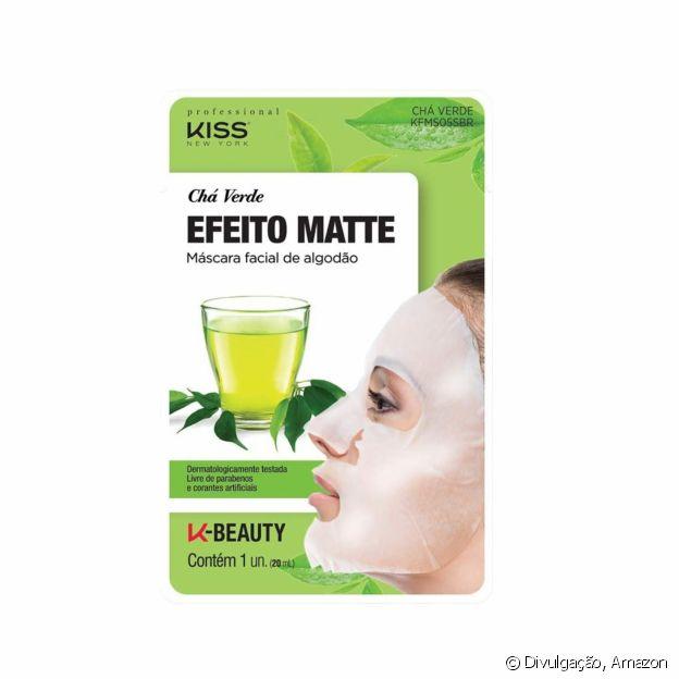 Máscara de Algodão e Chá Verde, da Kiss NY