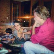 Cleo Pires publica foto com o pai, Fábio Jr, e o irmão caçula, Záion