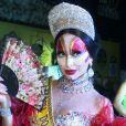 Sabrina Satose vestiu de Isabelita dos Patins ao ser coroada rainha do baile de gala Glam Gay, na quadra da São Clemente, no Rio de Janeiro