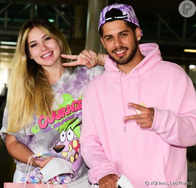 Zé Felipe e Virgínia Fonseca são flagrados em aeroporto após viagem para o México