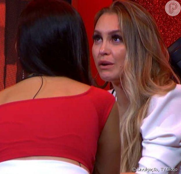 'BBB 21': Carla Diaz chora em desabafo à Juliette após ser chamada de sonsa por Viih Tube