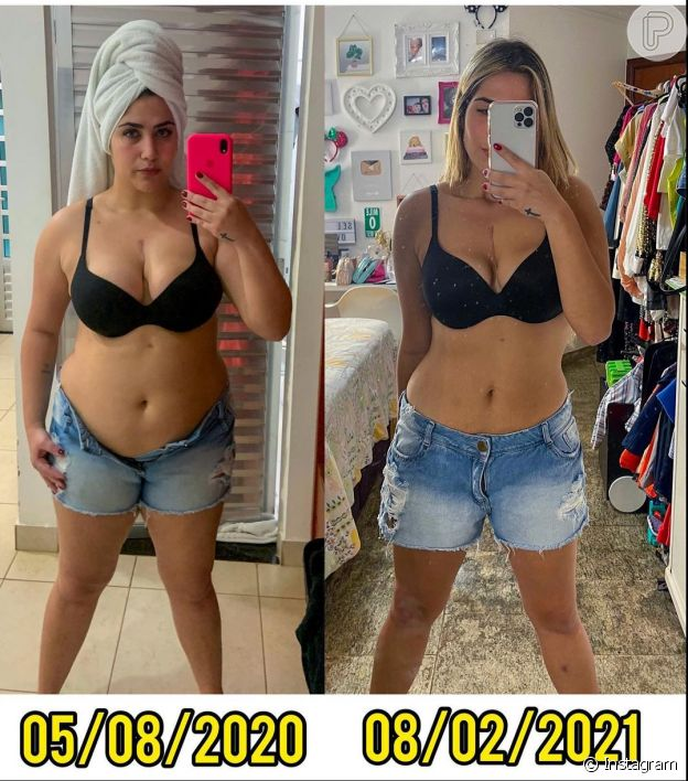 Fotos de antes e depois: filha de Leonardo exibe mudanças em corpo após perder 20 kg Com menos 20 kg, Jéssica Costa faz 'antes e depois' e Virgínia reage: 'Ainda mais linda'
