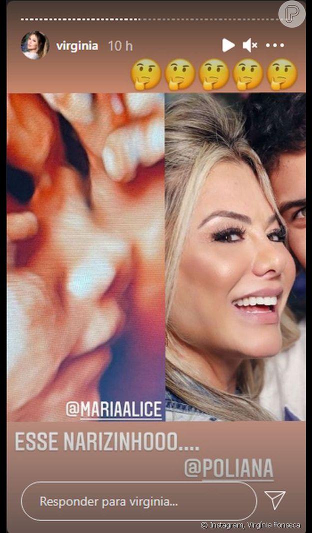 Virgínia Fonseca mostra nariz da filha com Zé Felipe em foto de ultrassom e brinca: 'Não ri'