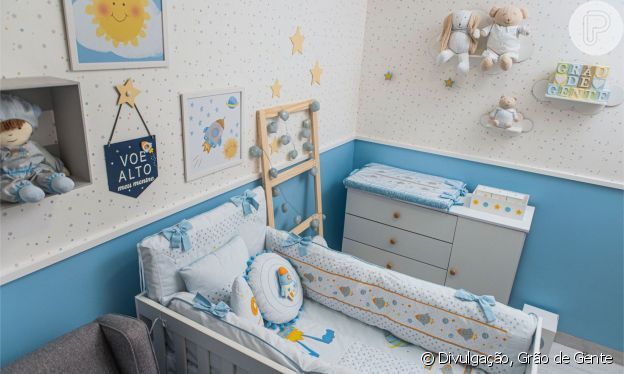 Modelo Luara Suita escolhe quarto com temática de astronauta para o filho