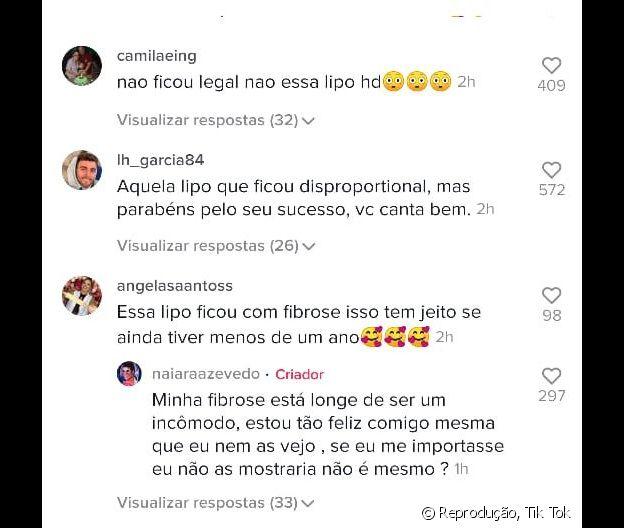 Internautas criticam o corpo de Naiara Azevedo após lipo