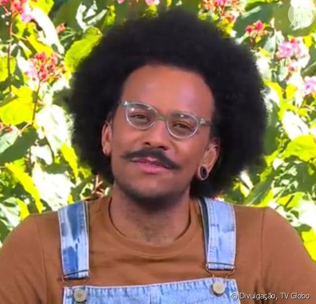 João, do 'BBB 21', reagiu à fala de Rodolffo sobre seu cabelo ao vivo no 'Mais Você'