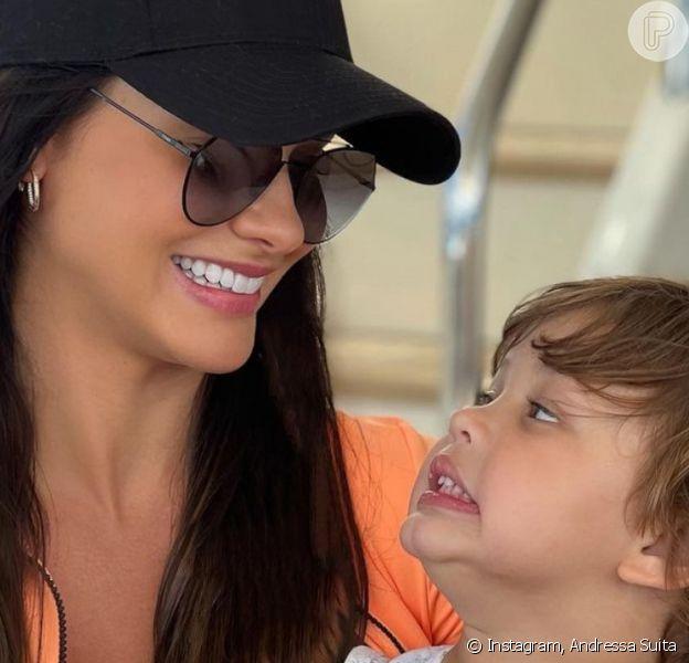 Andressa Suita compartilha momento fofo do filho caçula com primo em vídeo. Assista!