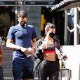 Bruna Marquezine e Enzo Celulari foram vistos deixando academia de luxo juntos