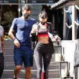 Bruna Marquezine exibiu barriga sarada em look esportivo após treino com Enzo Celulari