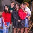 Simony com os 4 filhos, Pyetra, Ryan, Aysha e Anthony