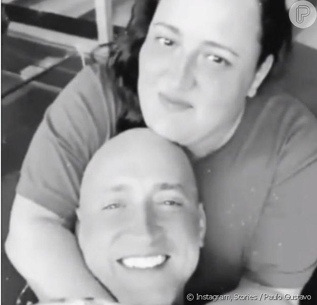 Irmã exibe última foto feita com Paulo Gustavo em hospital