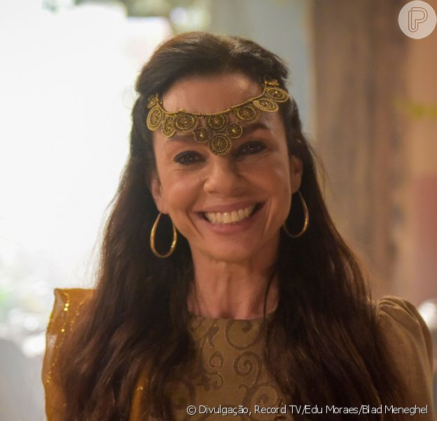 Novela 'Gênesis': Adália (Carla Marins) aceita se casar com Massá (Marcos Winter)