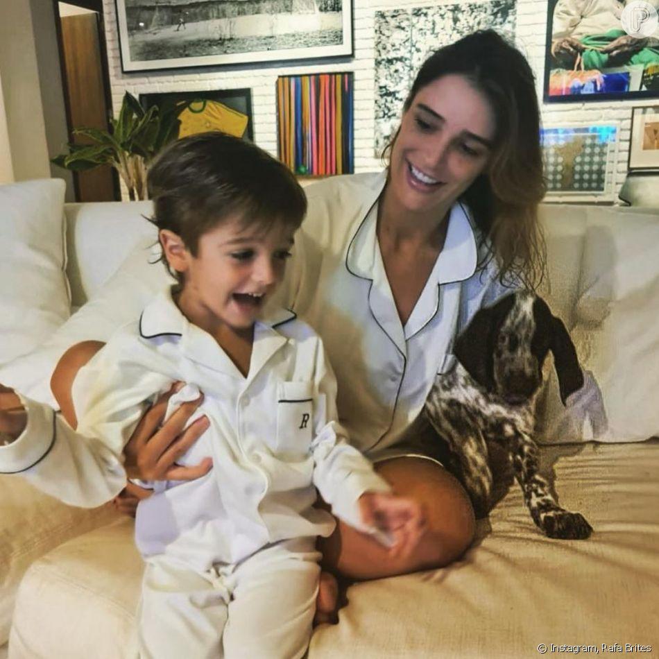 Rafa Brites e Felipe Andreoli são pais de Rocco, de 3 anos