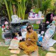 Virgínia Fonseca grava vídeo antes de dar á luz e mostra decoração em maternidade