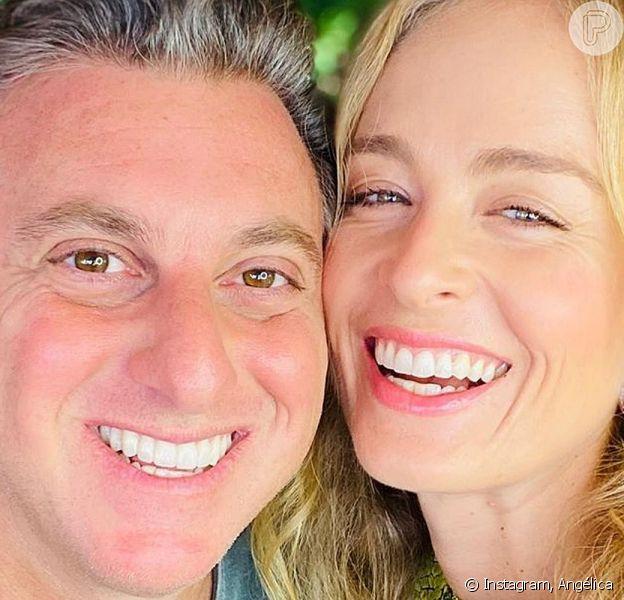Angélica e Luciano Huck se divertiram ao ver a apresentadora, mais nova, na TV