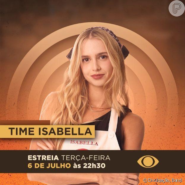 Atriz Isabella Scherer está na nova temporada de 'MasterChef Brasil' como competidora