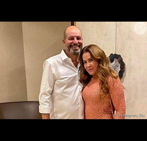 Zilu posta vídeo raro e inédito com o namorado, o empresário Antonio Casagrande, com quem mora na Flórida