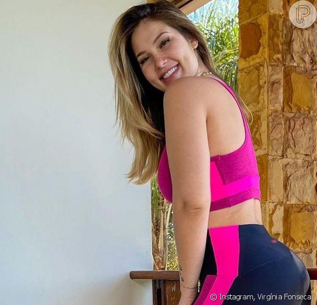 Virgínia Fonseca levantou a blusa para mostrar a barriga sarada pós-treino e comemorou: 'Tô voltando!'