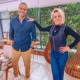 Ana Maria Braga elogiou a beleza de Thiago Oliveira e cogitou casamento com o jornalista