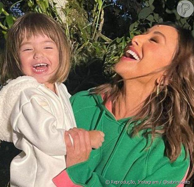 Sabrina Sato desabafa sobre primeiro dia de Zoe na escola: 'Milha filha não é mais um bebê'