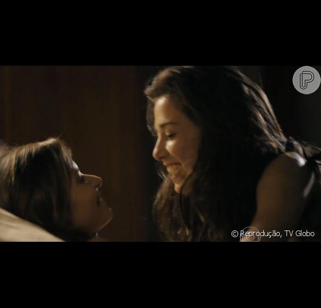 Marjorie Estiano e Paula Burlamaqui protagonizam cenas quentes na série 'Eu que amo tanto', exibida no 'Fantástico'