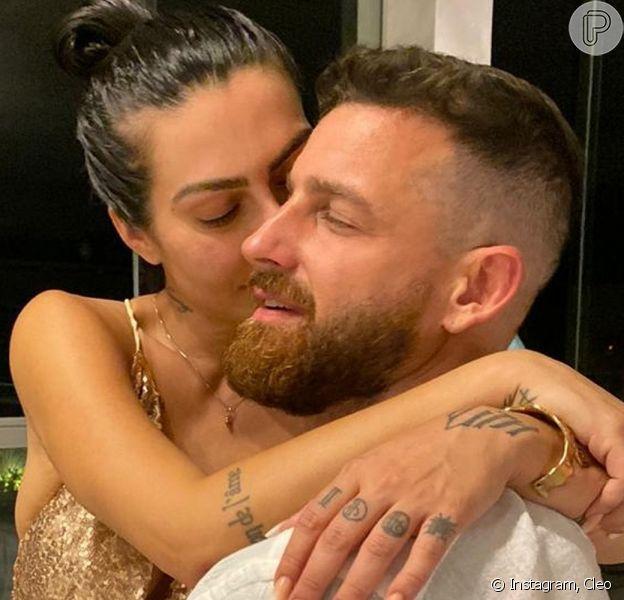 Cleo e Leandro D'Lucca se casaram pela segunda vez