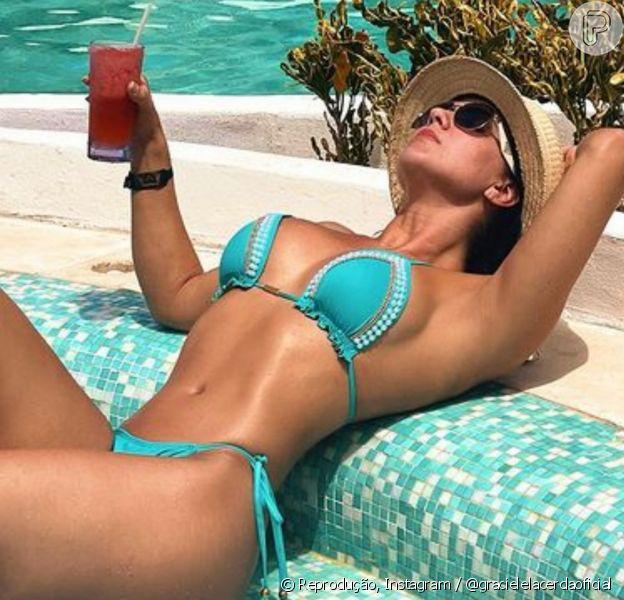 Graciele Lacerda aposta em tendências variadas quando o assunto é moda praia