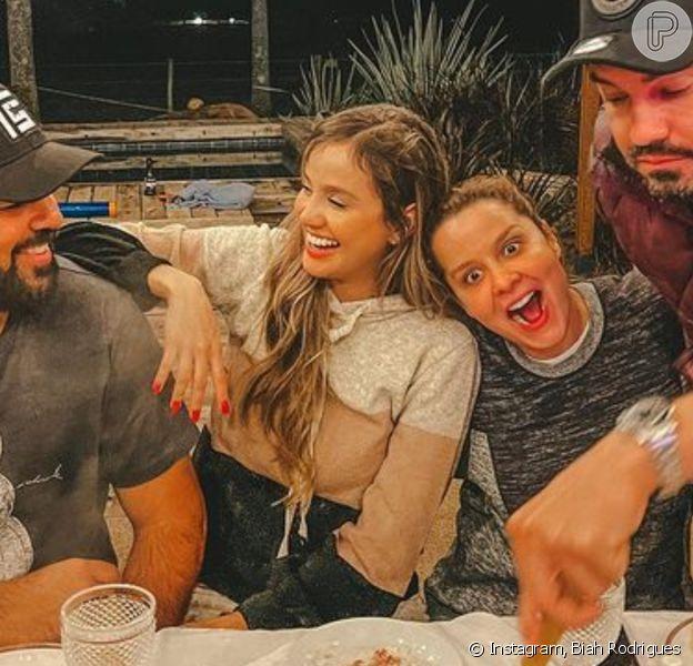 Fãs indagaram se Maiara não foi chamada para a festa de Sorocaba após fim do noivado com Fernando Zor e Biah Rodrigues rebateu