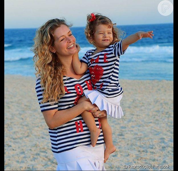 Bianca Castanho lançou uma grife de roupas para mães e filhos se vestirem com looks iguais