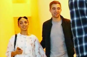 Robert Pattinson e a nova namorada, FKA Twigs, aparecem juntos em evento nos EUA