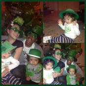 Mariah Carey comemora o St. Patrick's Day com o marido e os filhos gêmeos