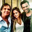 Henri Castelli e Diana Hernandez foram a um show de Roberto Carlos nos Estados Unidos