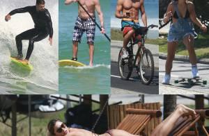 Veja o que os famosos fazem quando chega o verão! Surfe, stand up paddle...