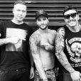 Bruno Gagliasso exibe nova tatuagem no braço. Ator desenhou um arcanjo e exibiu o trabalho no Instagram, em 15 de dezembro de 2014
