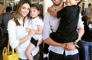 Separados, Kaká e Carol Celico vão juntos a evento dos filhos: 'Emocionante'
